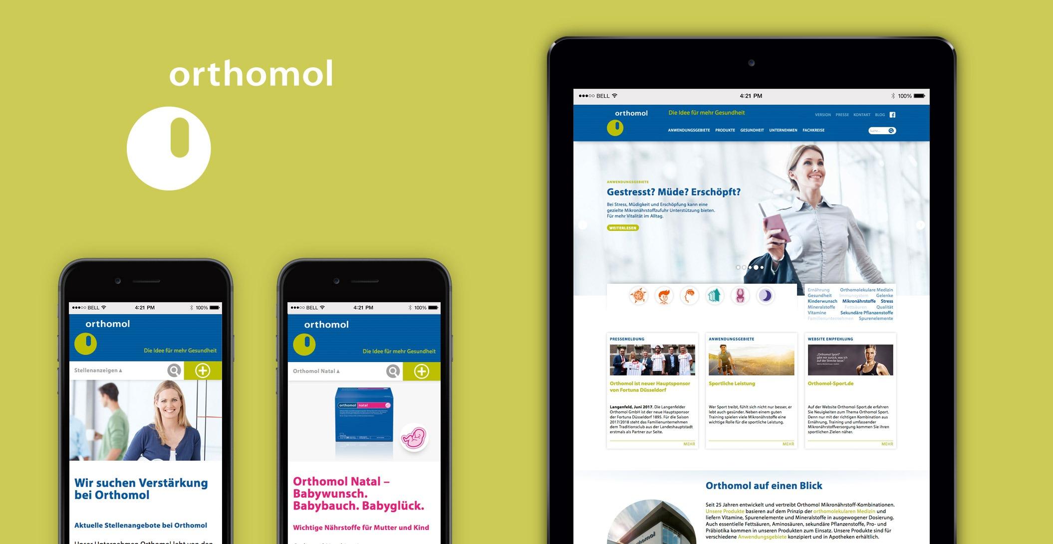 Digitale Strategie: Webdesign – Orthomol. Bereit. Fürs Leben.