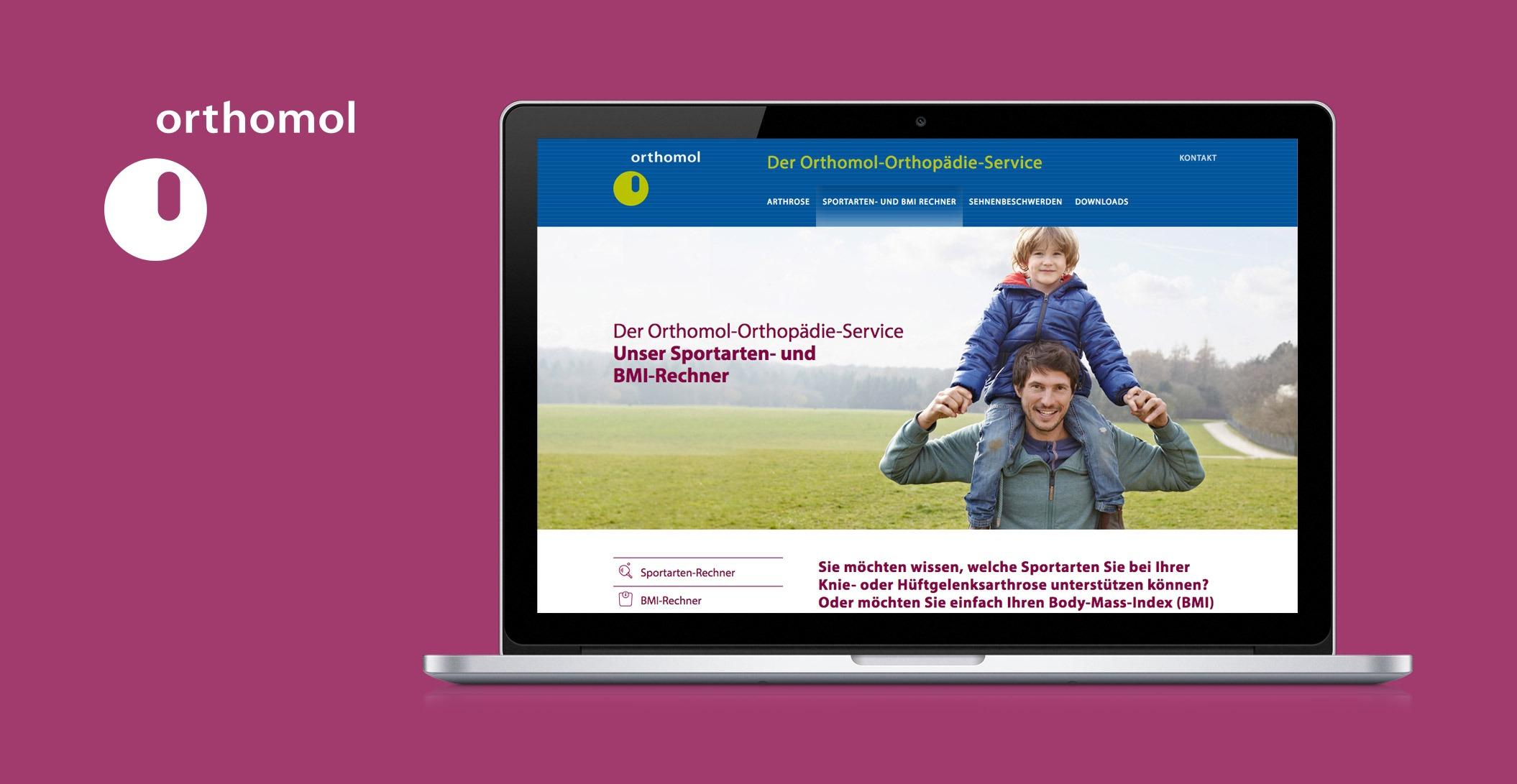 Gesamtetat Online: Orthompädie Service – Orthomol. Bereit. Fürs Leben.