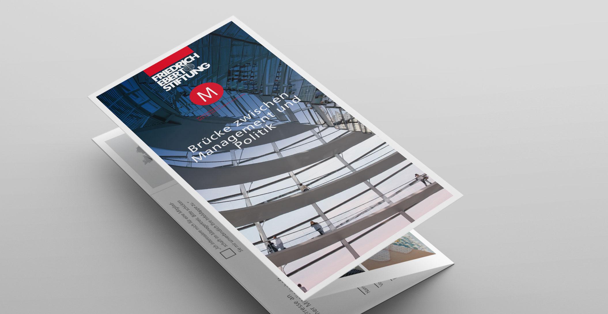 Print Design: Sebstdarstellung, 6-Seiter – Managerkreis der Friedrich-Ebert-Stiftung
