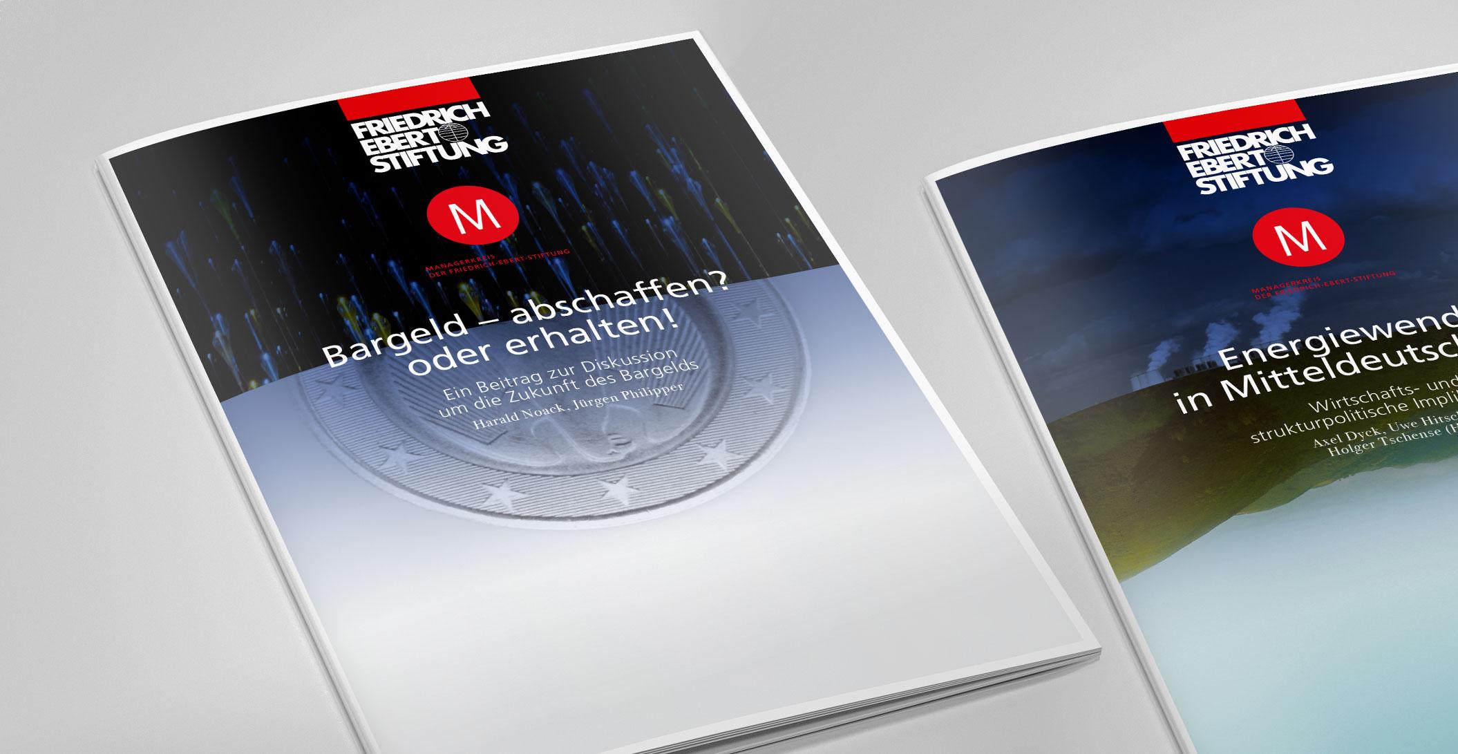 Print Design: diverse thematische Publikationen – Managerkreis der Friedrich-Ebert-Stiftung