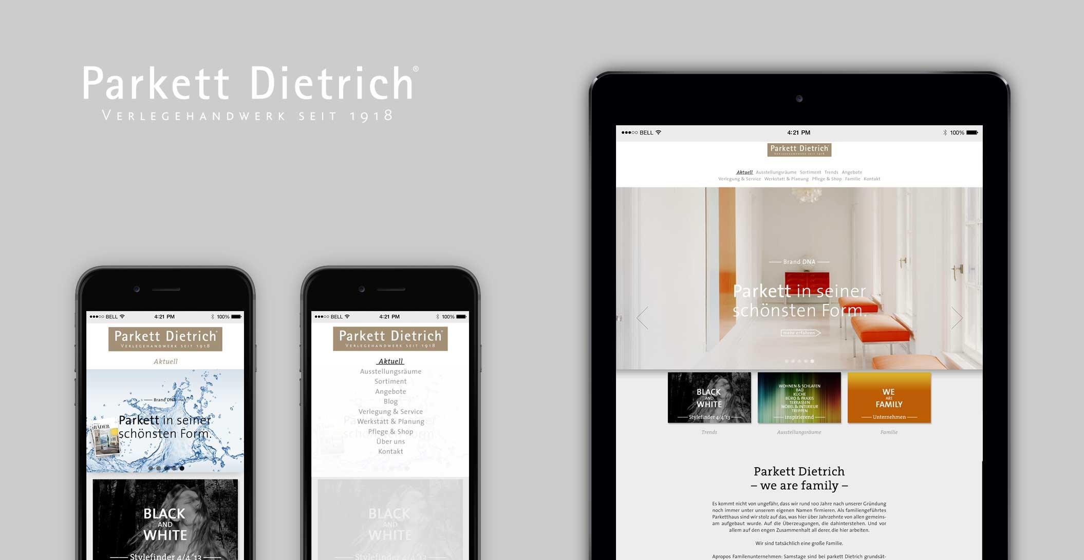 Website: Startseite – Parkett Dietrich, Parkett in seiner schönsten Form