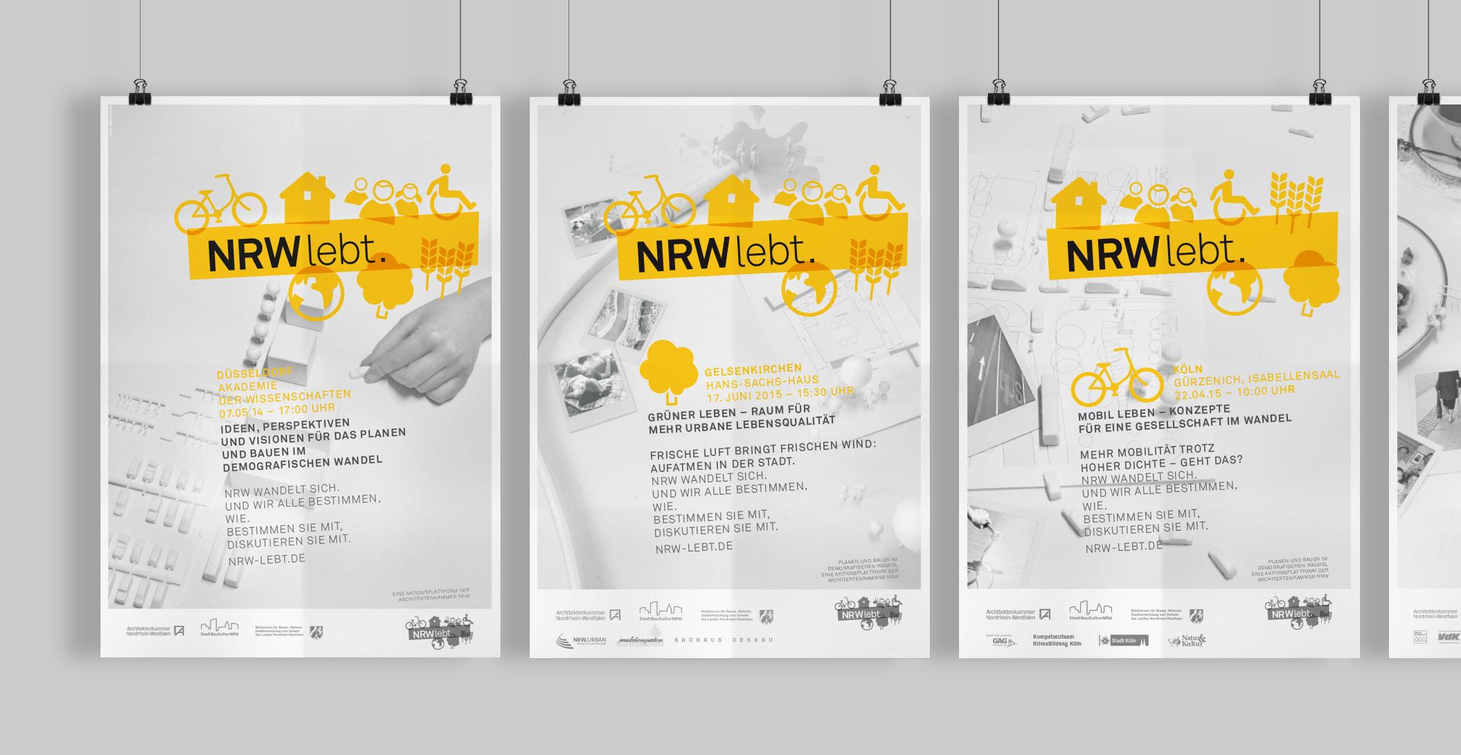 Veranstaltungsplakate – 8 Motive - Architektenkammer NRW - NRW lebt.