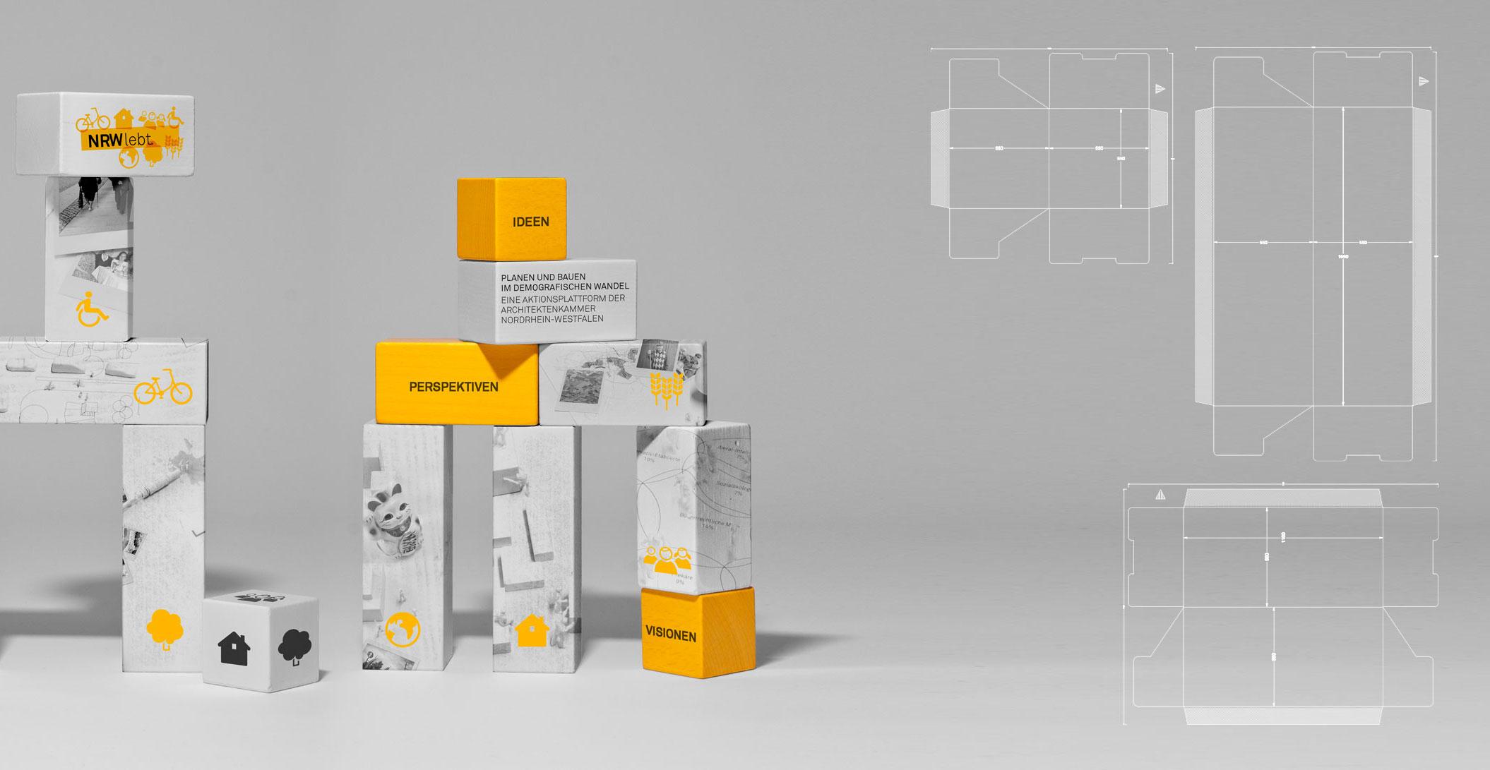 Gestaltung für Screen, Print und sehr unterschiedliche Locations - Architektenkammer NRW - NRW lebt.