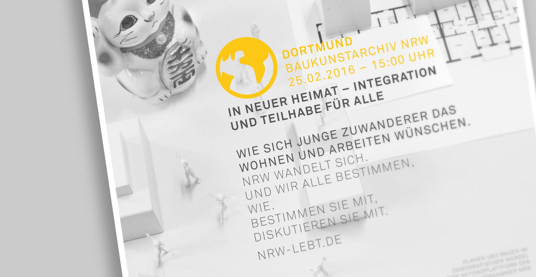 Plakat – Detail - Architektenkammer NRW - NRW lebt.