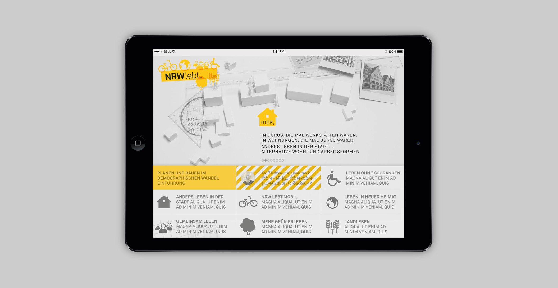 Website – Konzeption & Beratung - Architektenkammer NRW - NRW lebt.