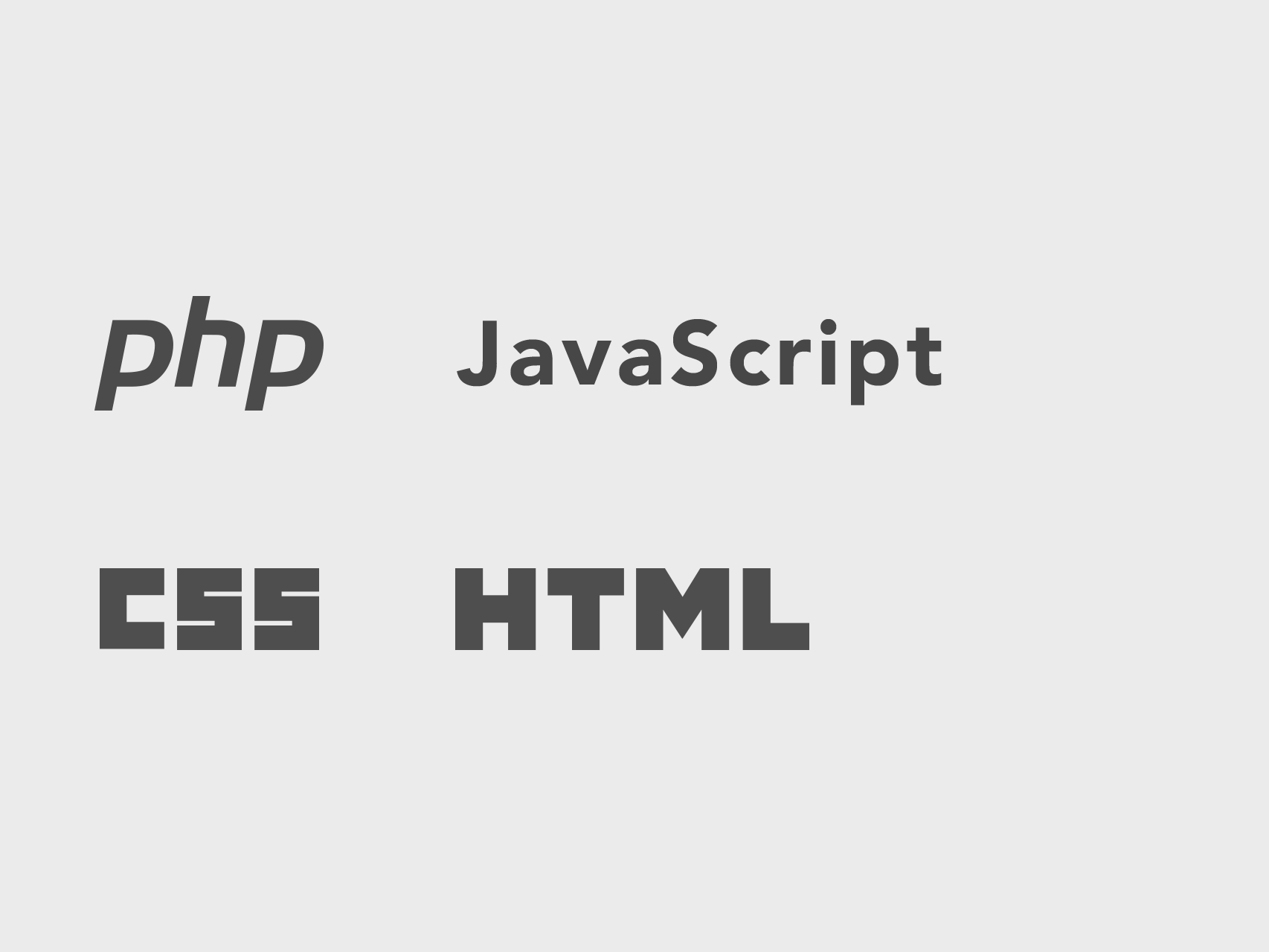 Webentwicklung: php, javascript, css, html
